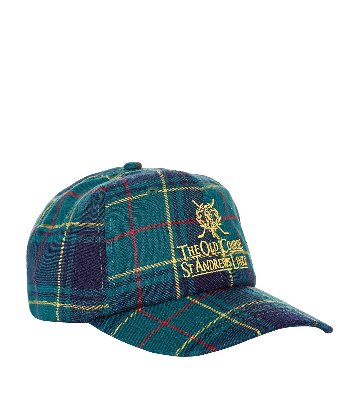 111748938 Harrods Multicolor St Andrews Tartan Golf Cap for men