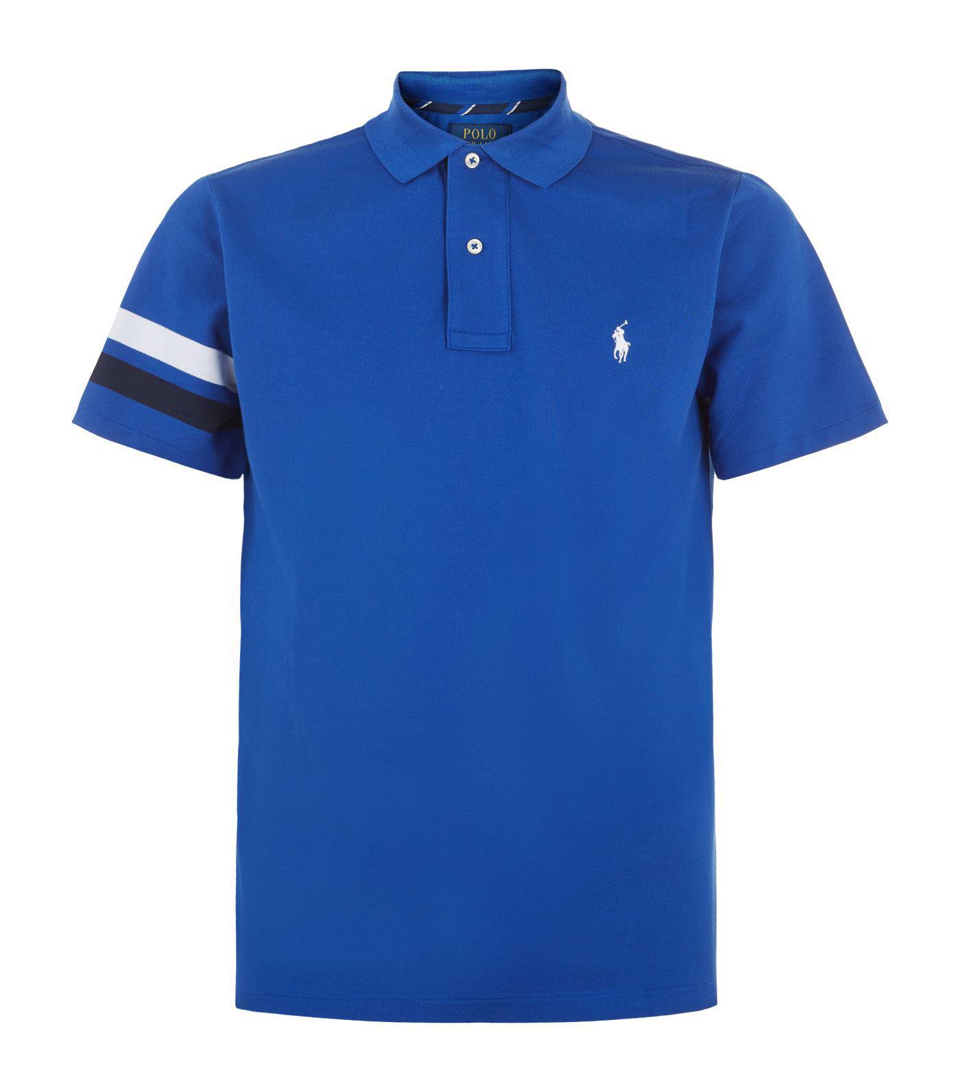 64274f4075 Polo Ralph Lauren Blue Wimbledon Slim Fit Polo Shirt for men