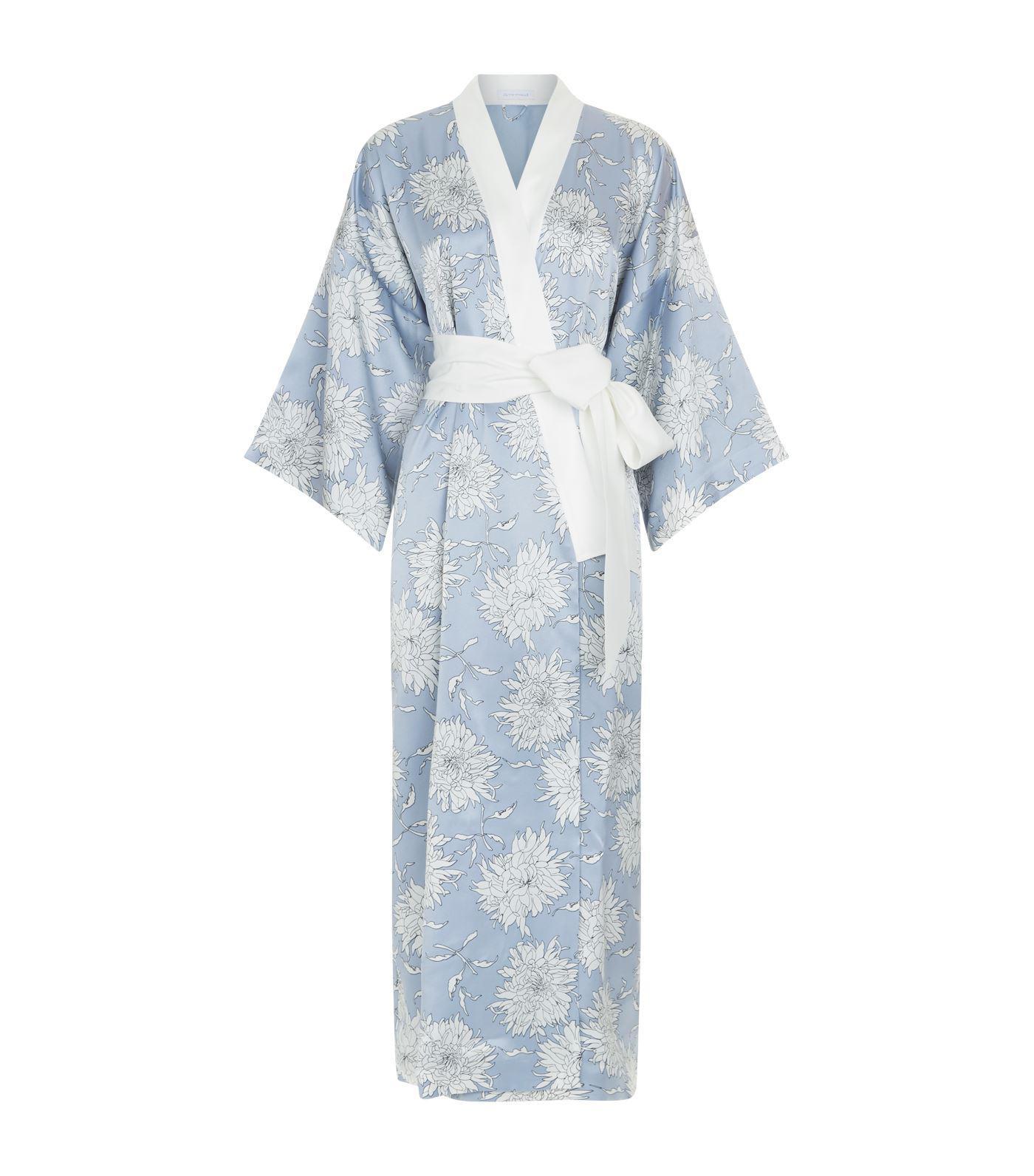 da628cfe5 Olivia Von Halle Queenie Kiko Silk Kimono in Blue - Lyst