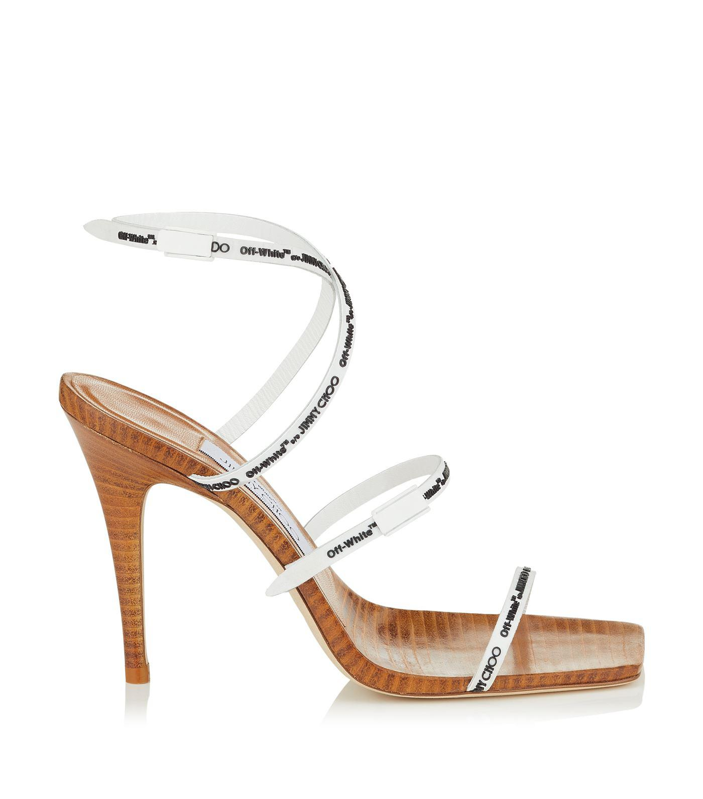 2f521a3cb25 Lyst - Jimmy Choo Jane 100 Rubber Sandals in White