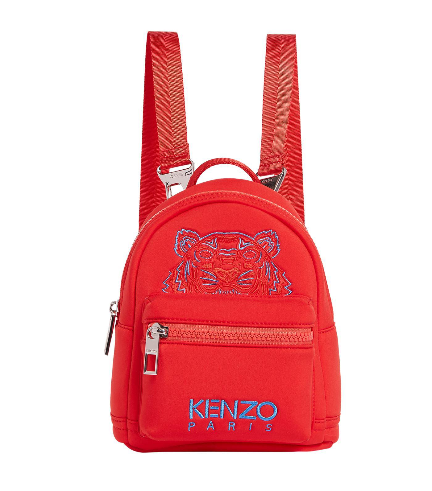 KENZO - Red Mini Tiger Backpack for Men - Lyst. View fullscreen a2ea33d8103a9