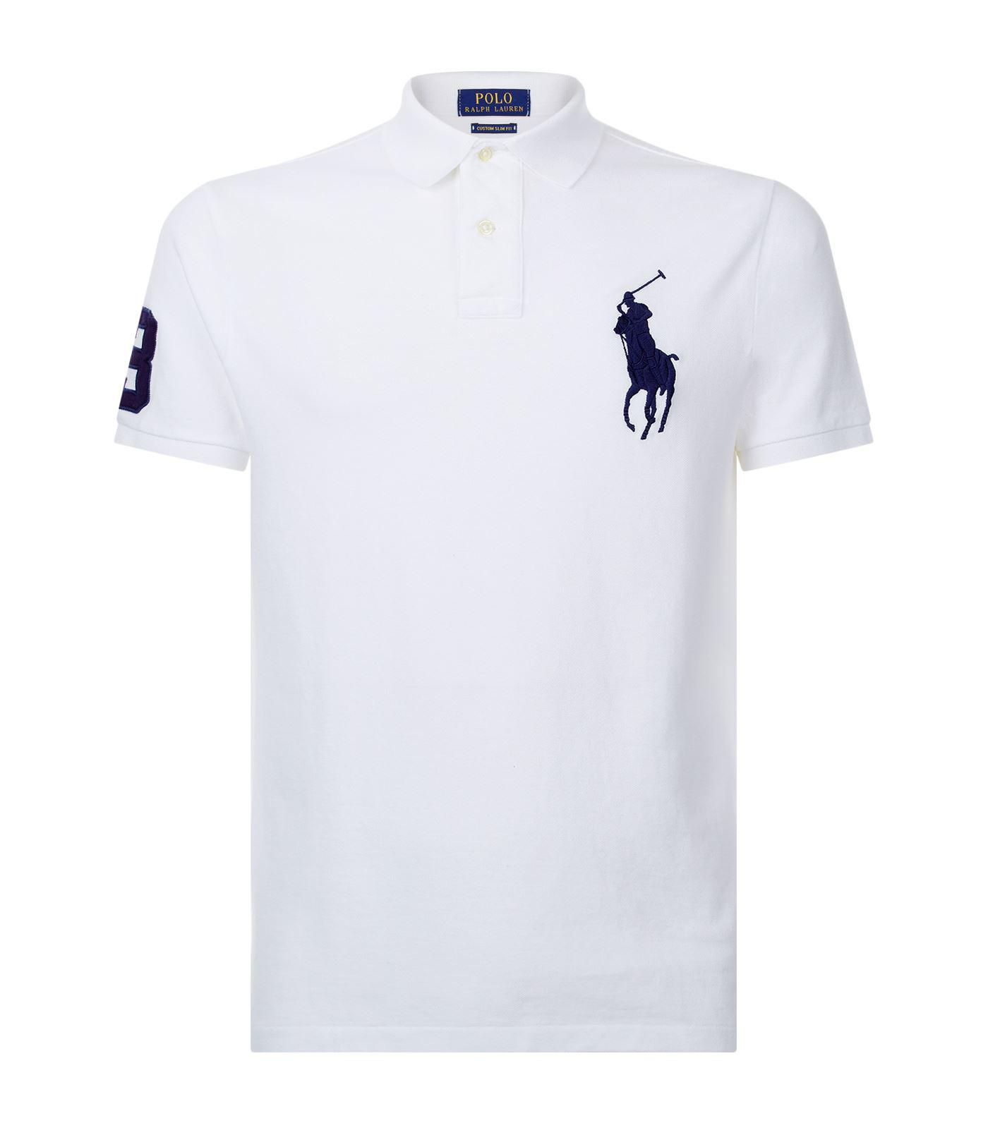9bc18ae9 Lyst - Polo Ralph Lauren Big Pony Polo Shirt in White for Men
