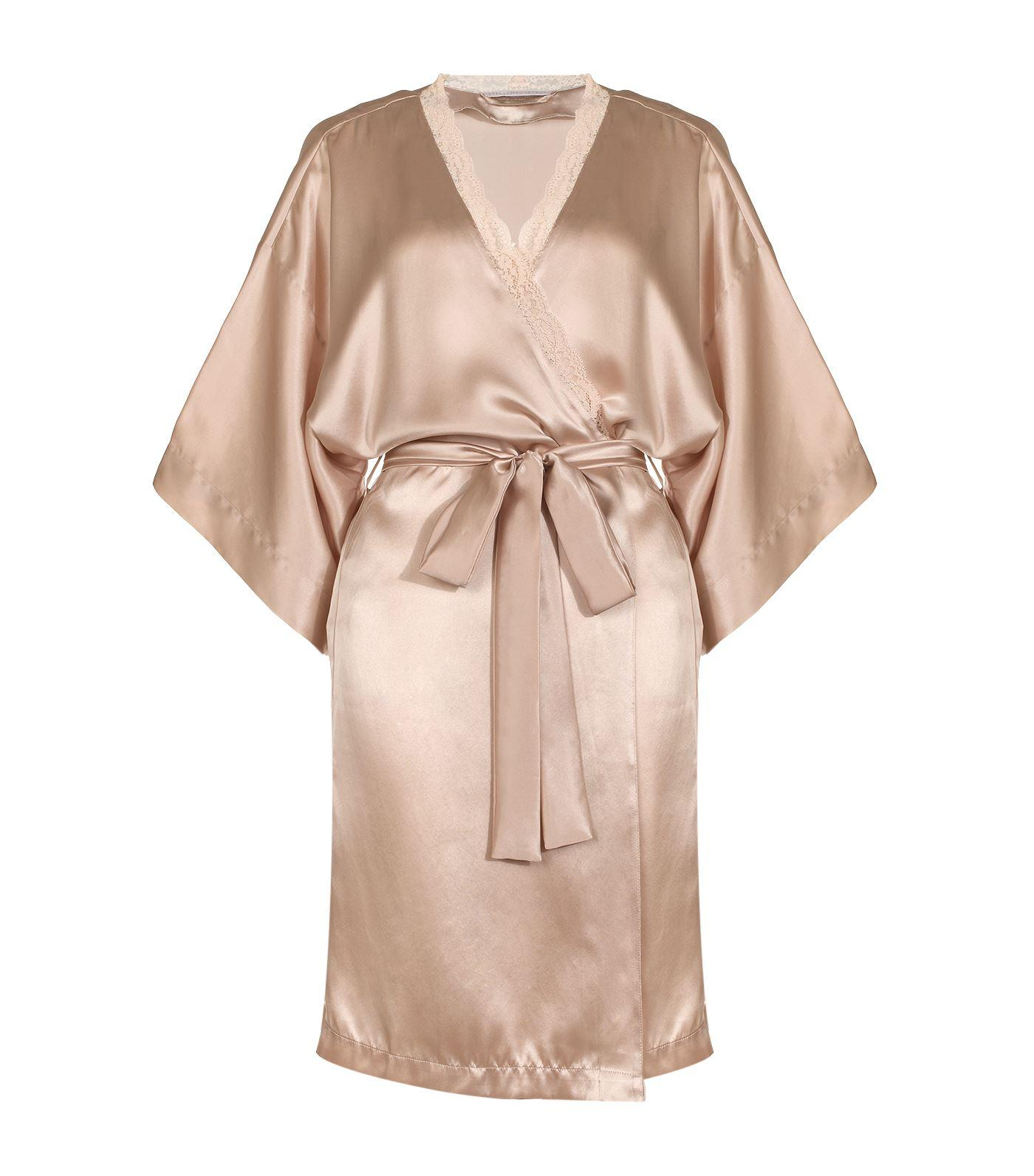 stella mccartney clara whispering short robe in pink lyst. Black Bedroom Furniture Sets. Home Design Ideas