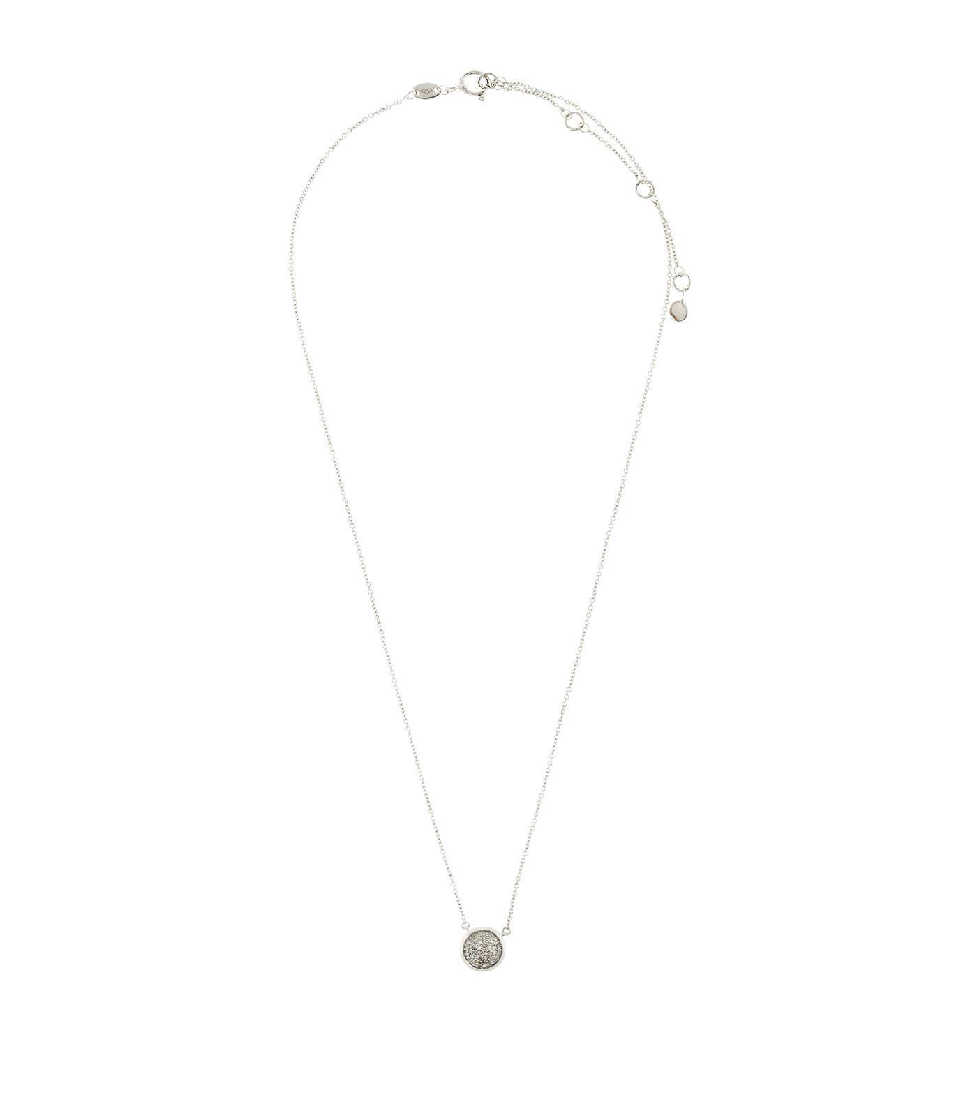 Links of London Diamond Essentials Pave Round Necklace in Silver (Metallic)