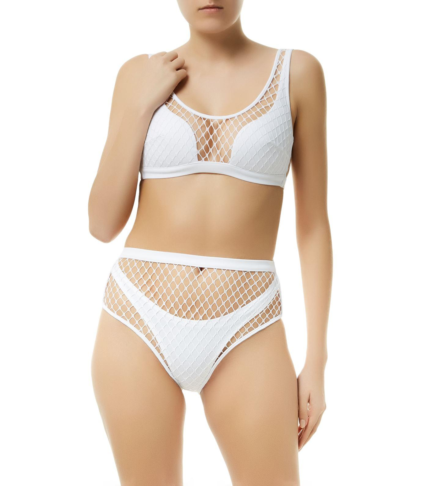 Shannon Top Bikini Agent White Fishnet Provocateur HED9WI2