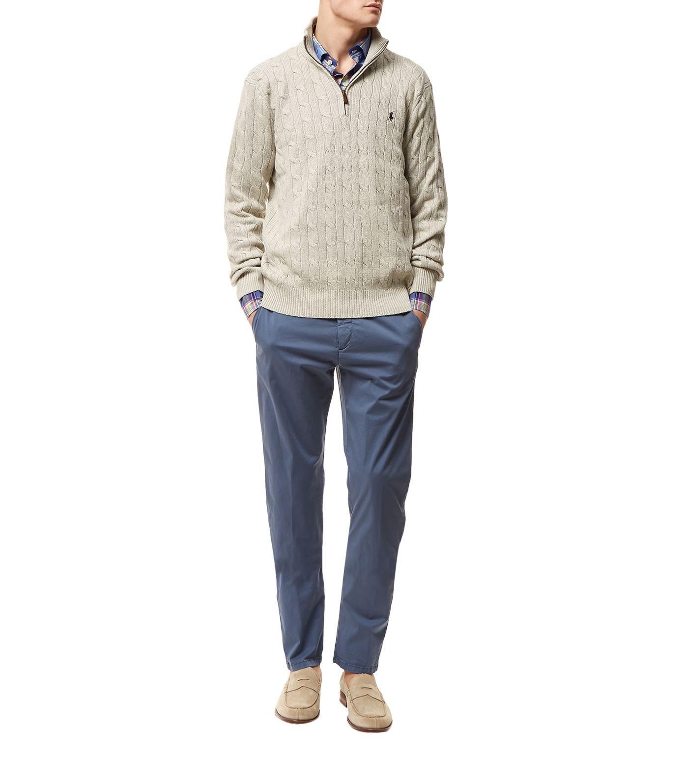 Knitting Jumpers For Elephants Fake : Polo ralph lauren silk cable knit jumper in gray for men