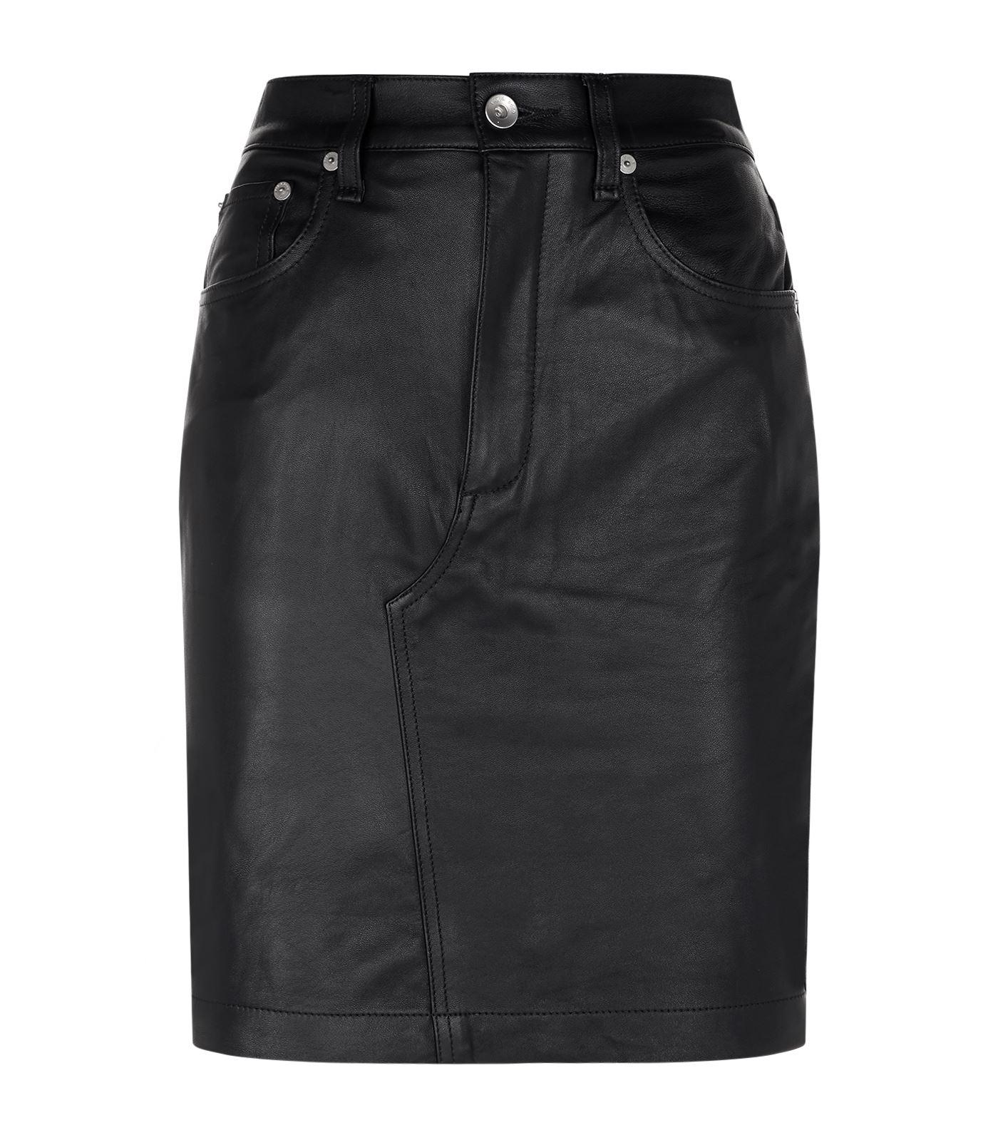 rag bone dive leather skirt in black lyst
