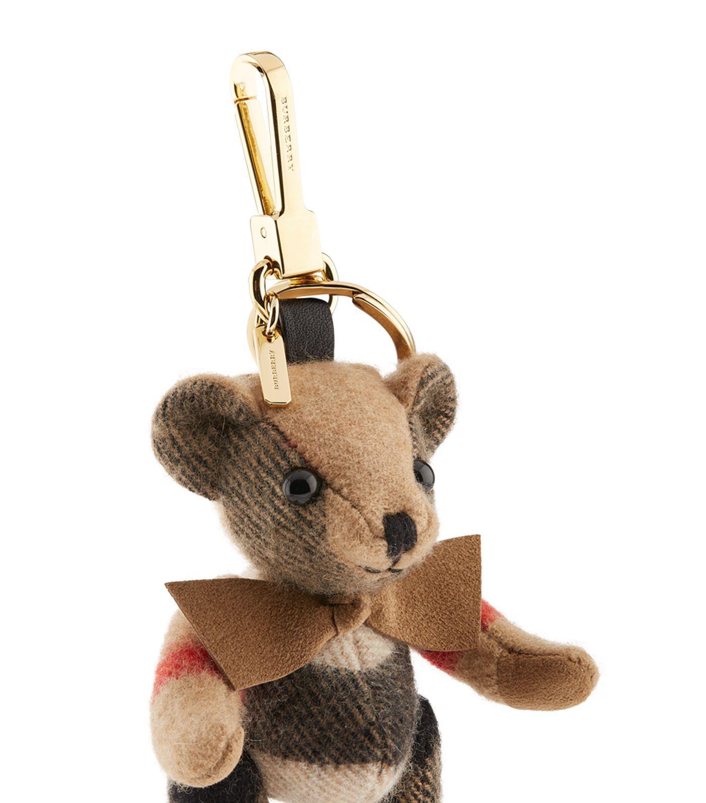 Burberry Cashmere Thomas Check Bag Charm