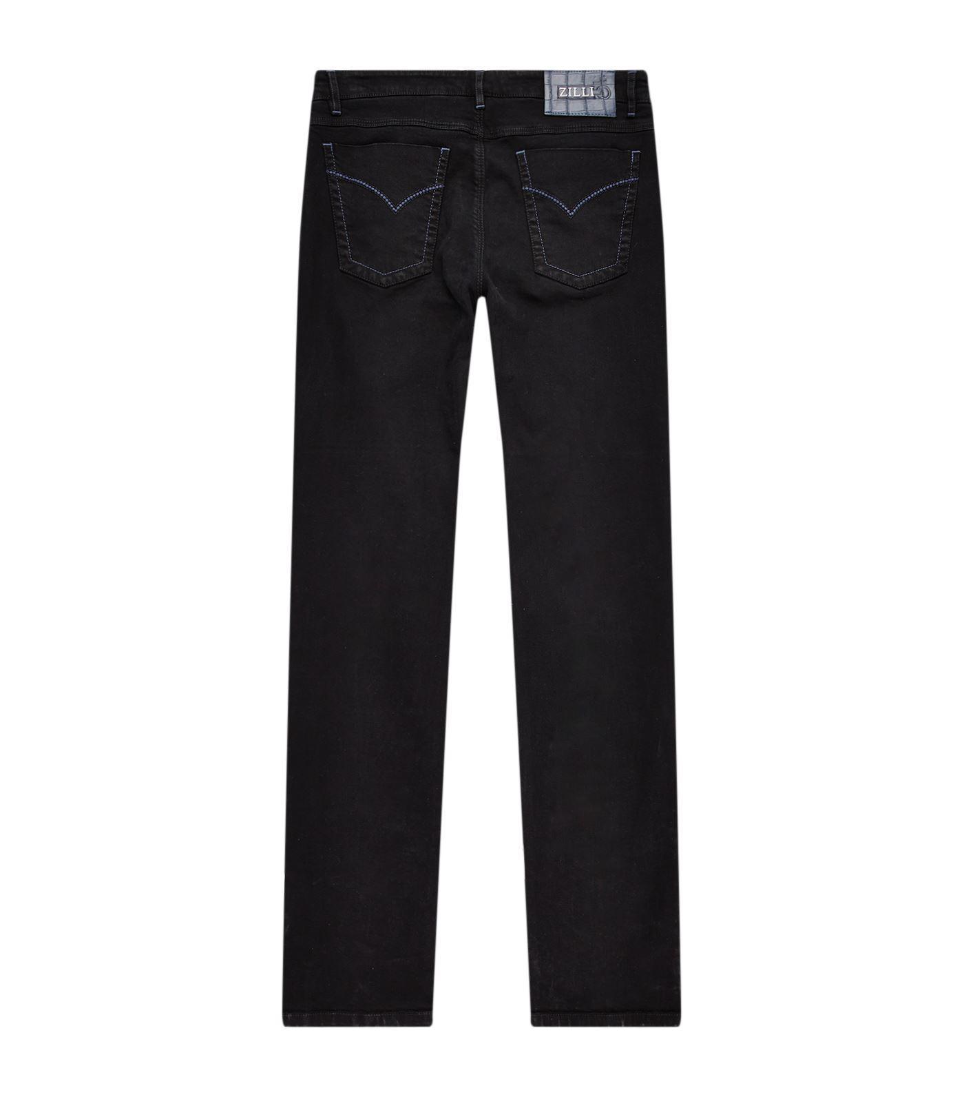 Zilli Slim-fit Alligator Patch Denim Jeans in Blue for Men