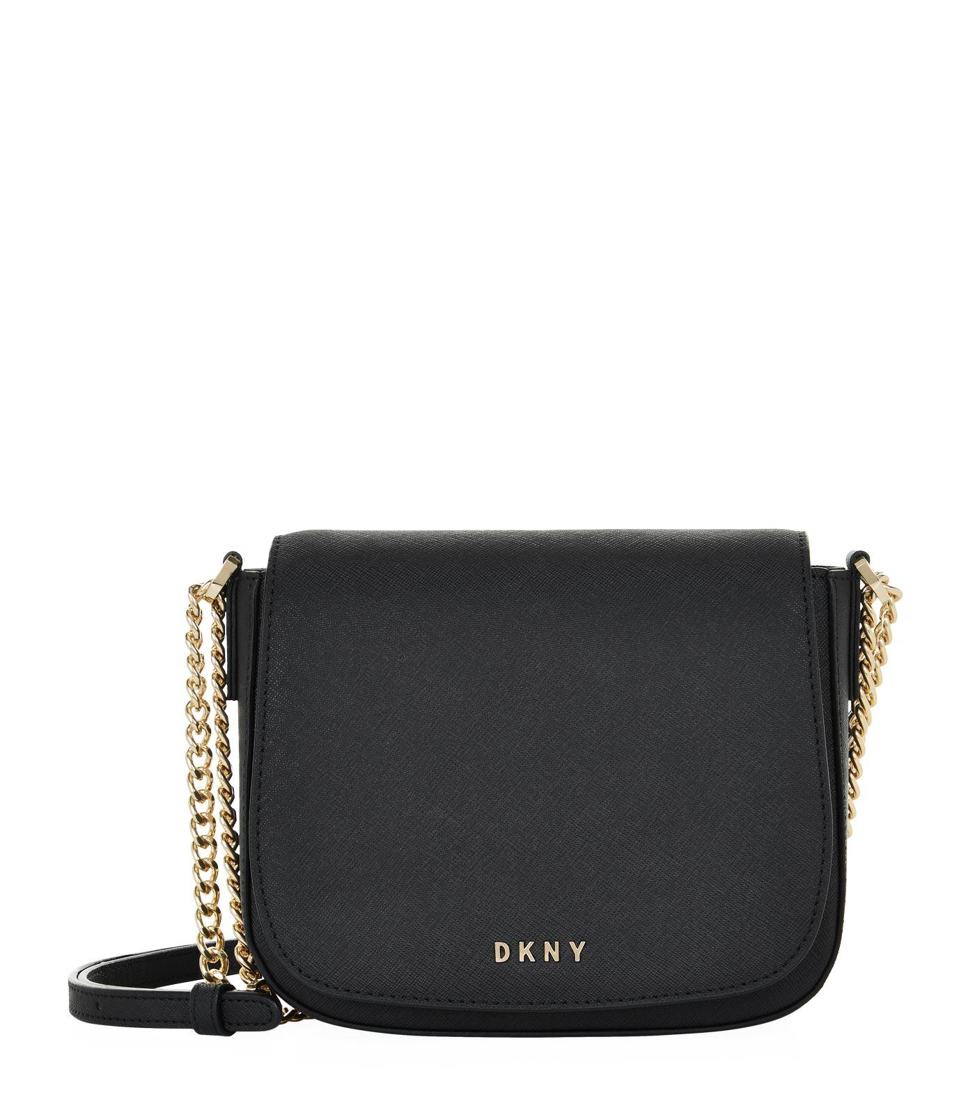 dkny small bryant park flap cross body bag in black lyst. Black Bedroom Furniture Sets. Home Design Ideas