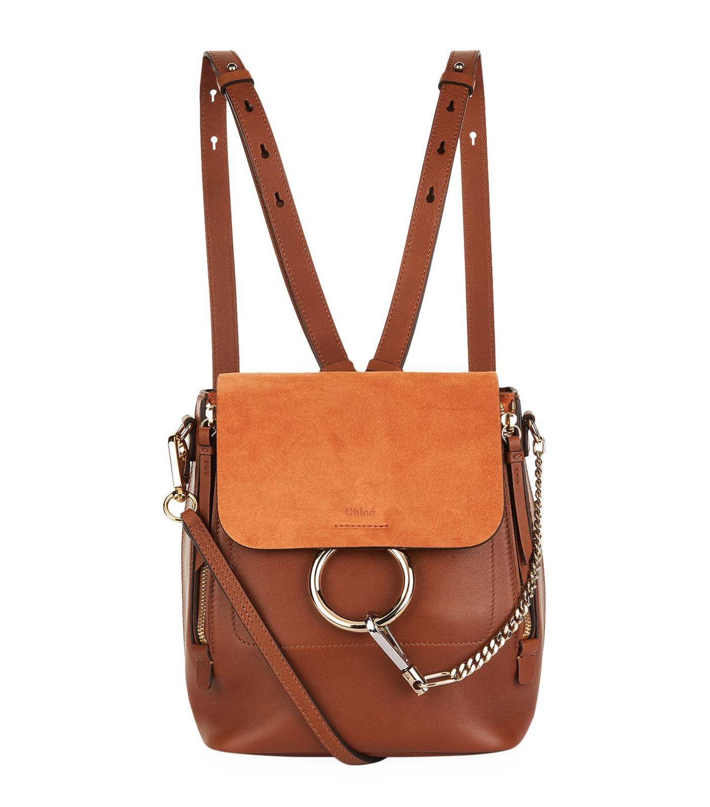 Lyst - Chloé Small Faye Backpack in Brown - Save 27% 97315ceca6c80