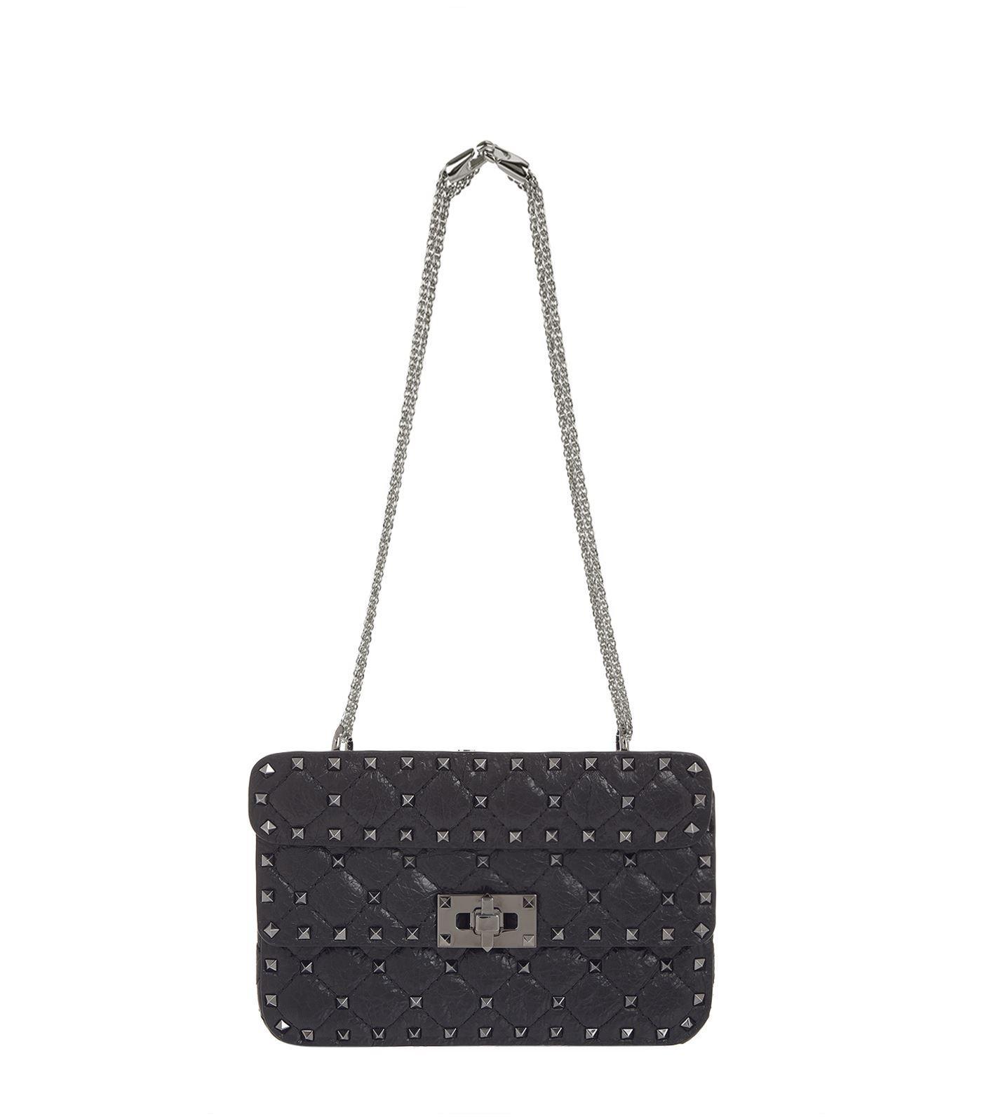 Valentino Rockstud Spike Crinkled Shoulder Bag F2depxRNr