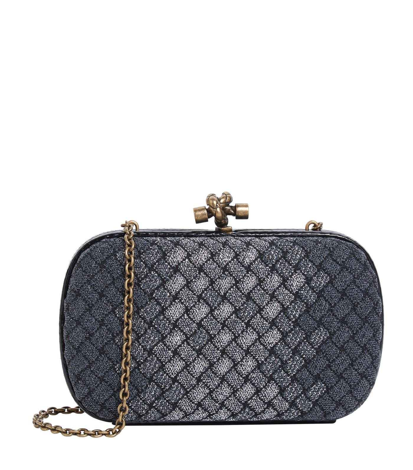 Lyst - Bottega Veneta Knot Clutch Bag in Black - Save 19% f0cabbdfd2ea4