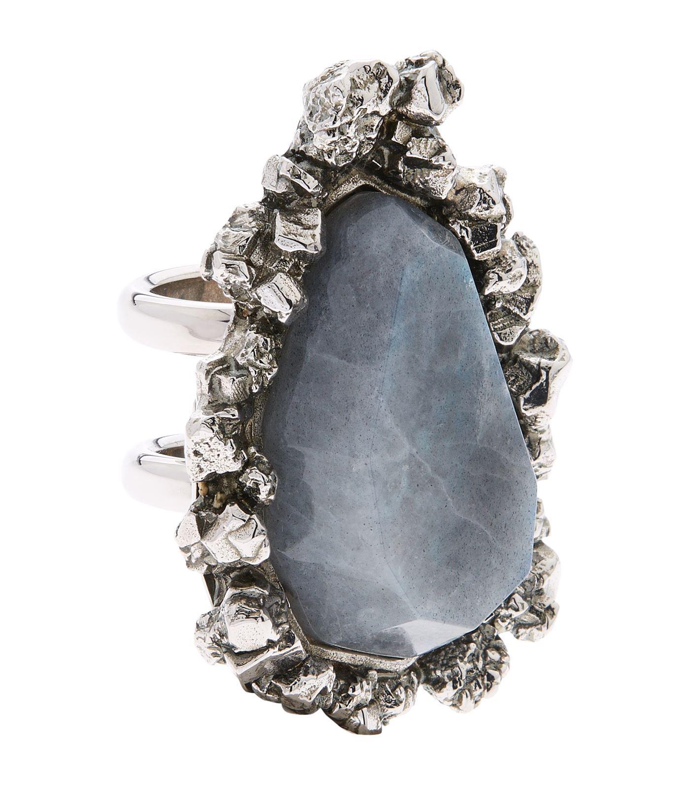 ice stone ring - Metallic Alexander McQueen wIxPZwWwgs
