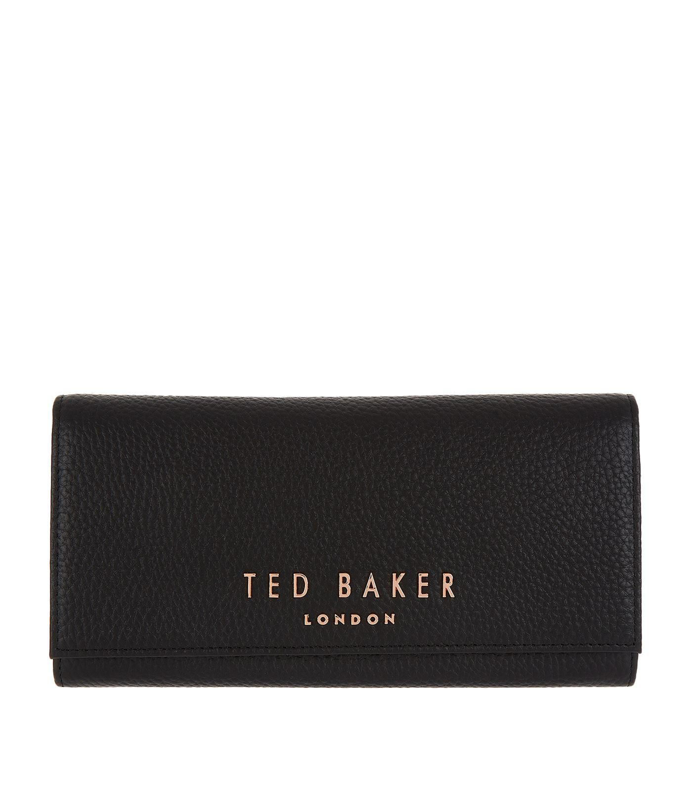 64a671a5e4af Ted Baker Leather Lura Matinee Purse in Black - Lyst
