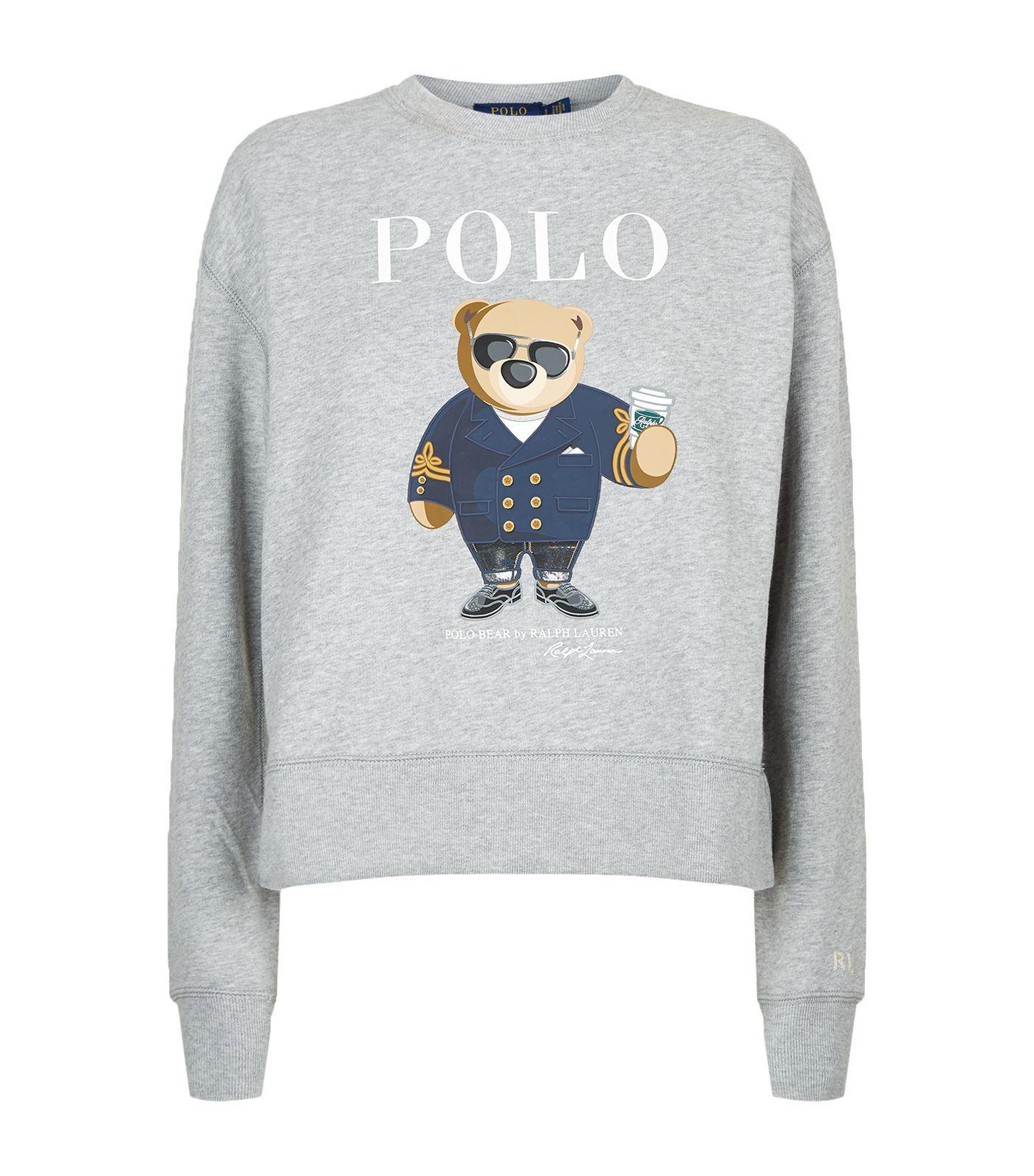 Ralph Print Polo Bear For Lauren Men Gray Sweatshirt Tcl3u1JF5K