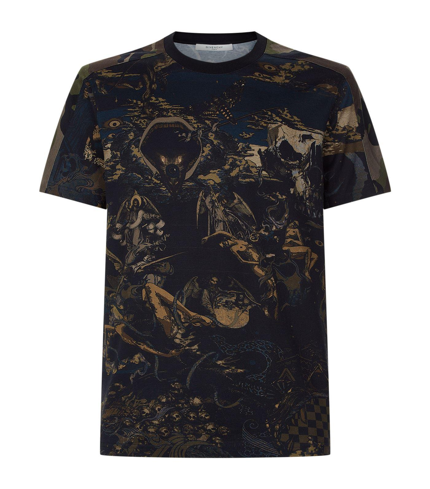 Lyst givenchy printed t shirt in blue for men Givenchy t shirt price