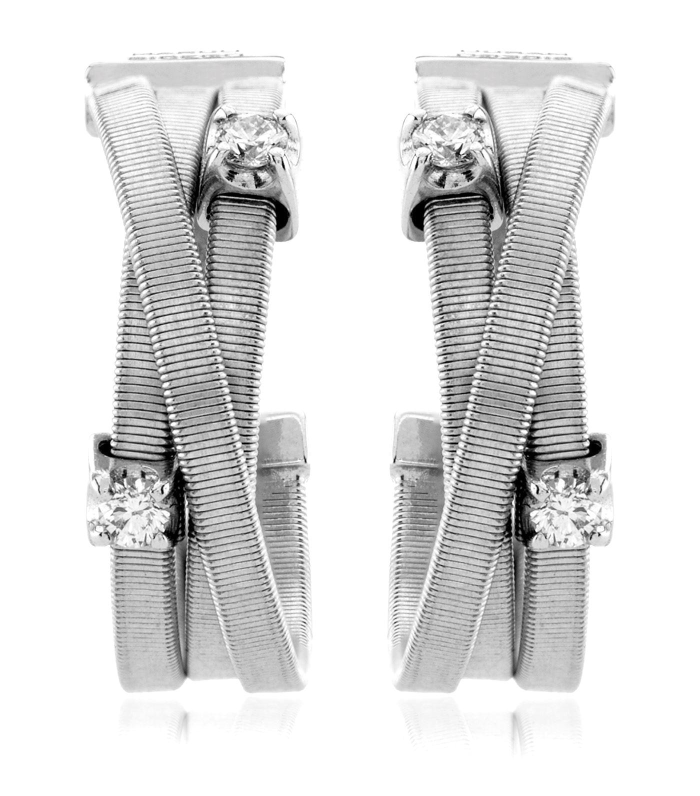 Marco Bicego Women S White Goa Strand Diamond Earrings