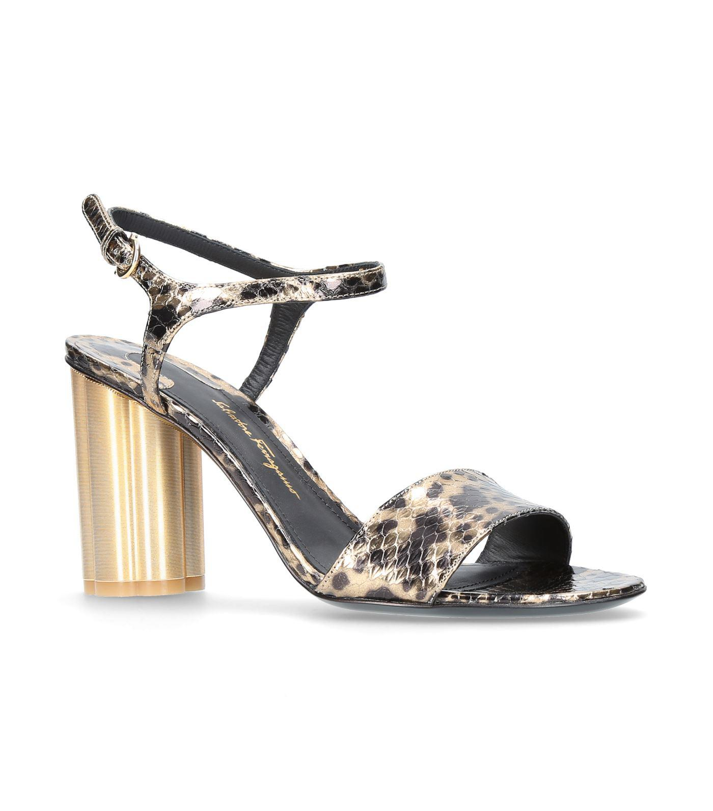 Salvatore Ferragamo Sienna Snakeskin Sandals cheap sale supply q45t1