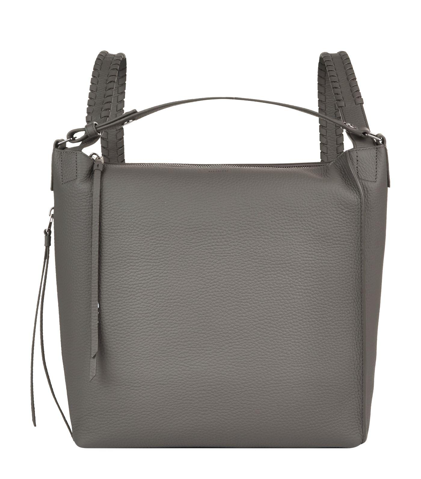 78ce657b5e Allsaints Small Leather Kita Backpack in Gray - Lyst