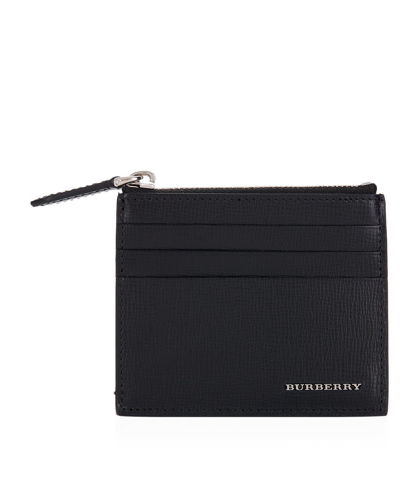 hot sale online b39b2 6c872 Burberry Black Zip Pocket Card Holder