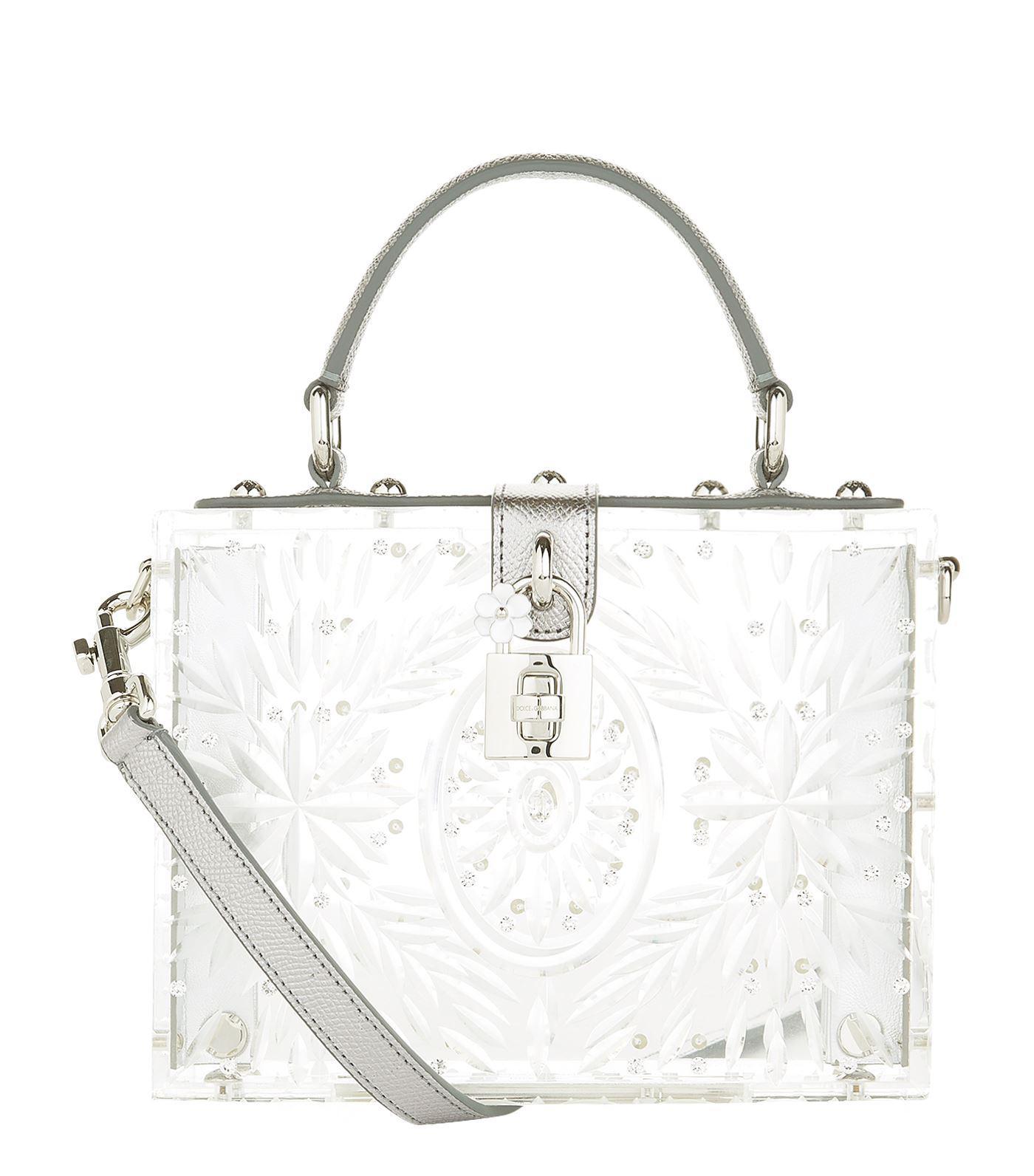 Gabbana Handle Dolce Padlock Plexiglass Bag Lyst amp; Top 6Fq57U