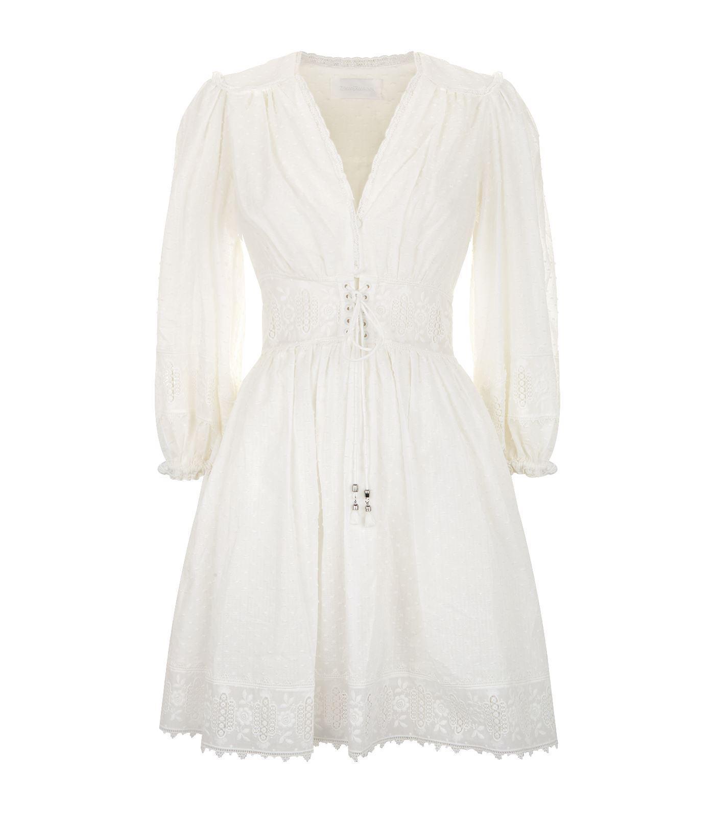 Iris corset-waist cotton minidress Zimmermann 3hARCCt