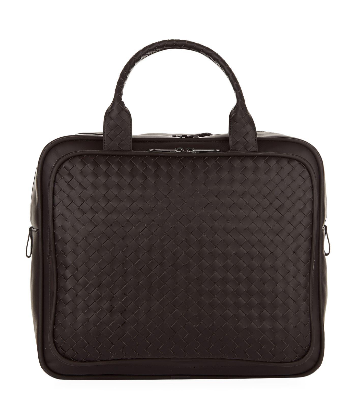 d934dfbadab4 Bottega Veneta Intrecciato Leather Briefcase in Brown for Men - Lyst