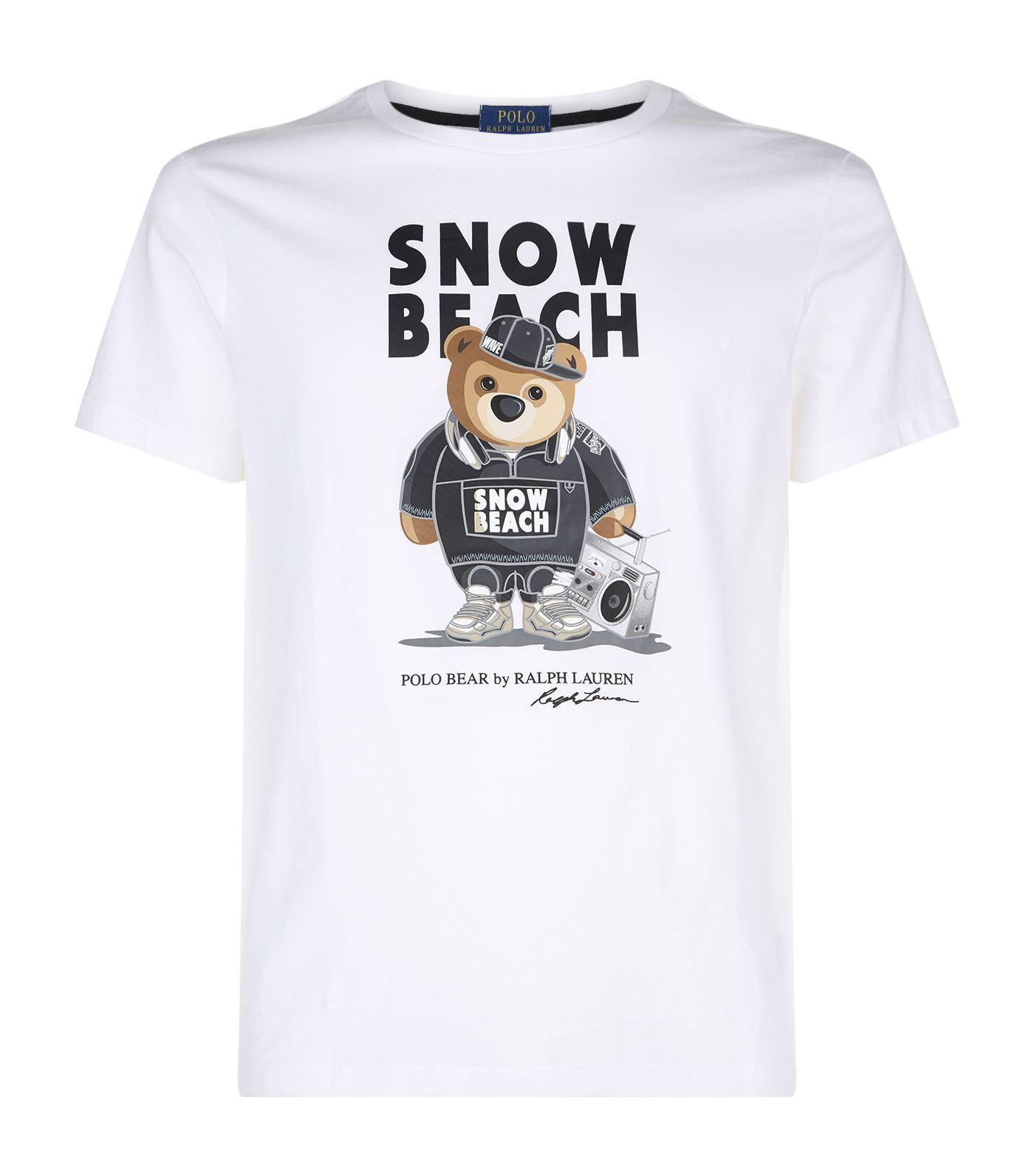 Ralph Lauren Snow Beach Bear T-shirt in White for Men