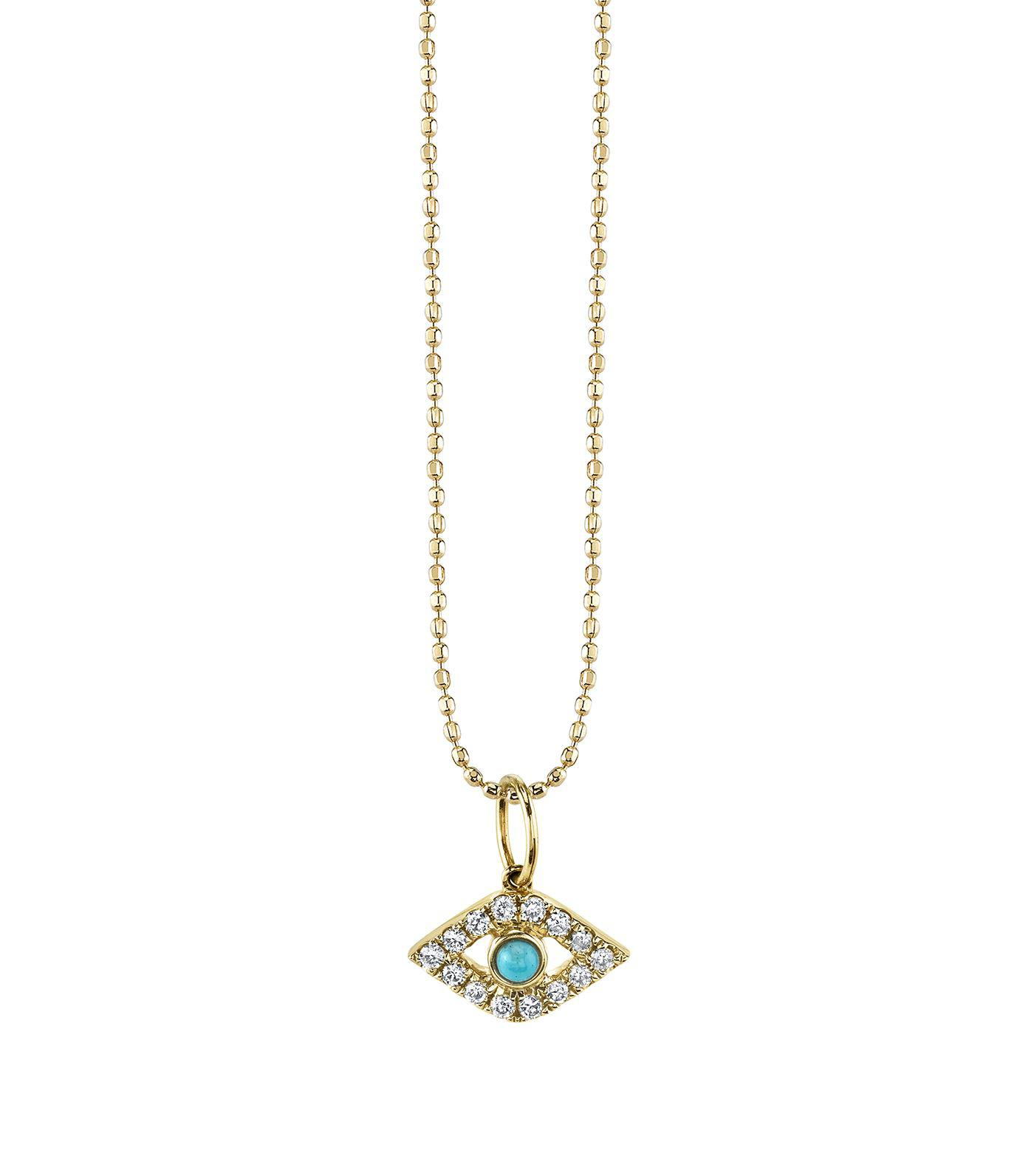 Sydney Evan Turquoise & Diamond Bezel Bar Necklace iPq7MDZO