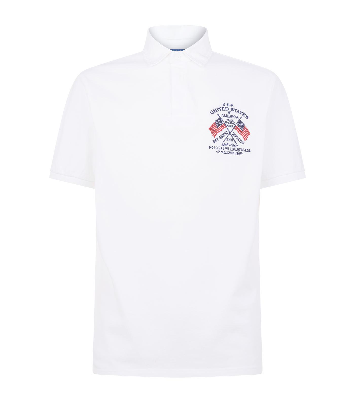 cff8fb3a Ralph Lauren Mens Big Pony Usa Flag Polo Shirts | Top Mode Depot