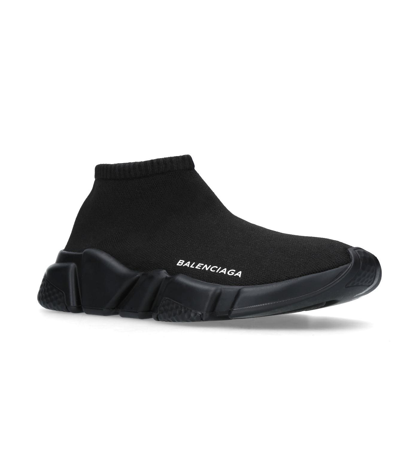 lyst balenciaga speed low top sneakers in black. Black Bedroom Furniture Sets. Home Design Ideas
