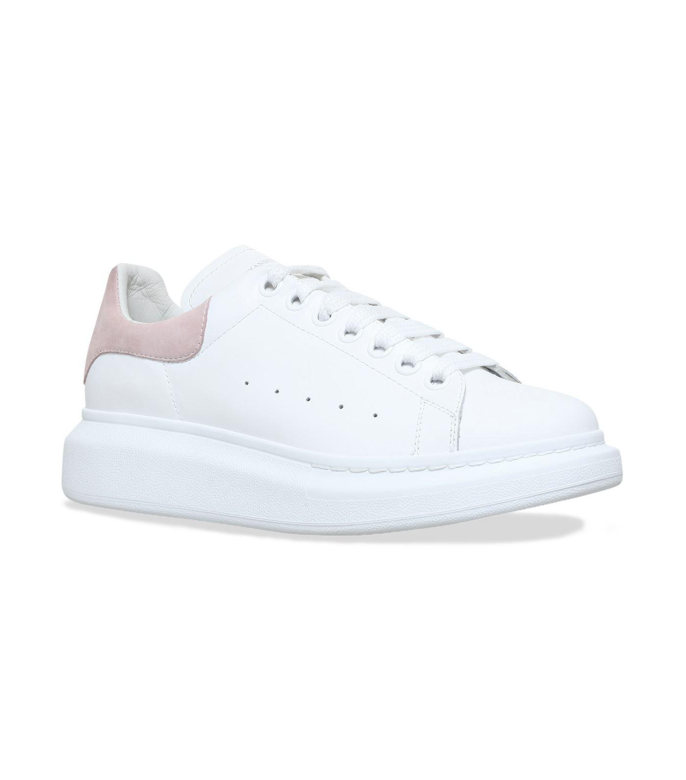 Alexander McQueen White Patent Leather & Mesh Sneakers XOVa5