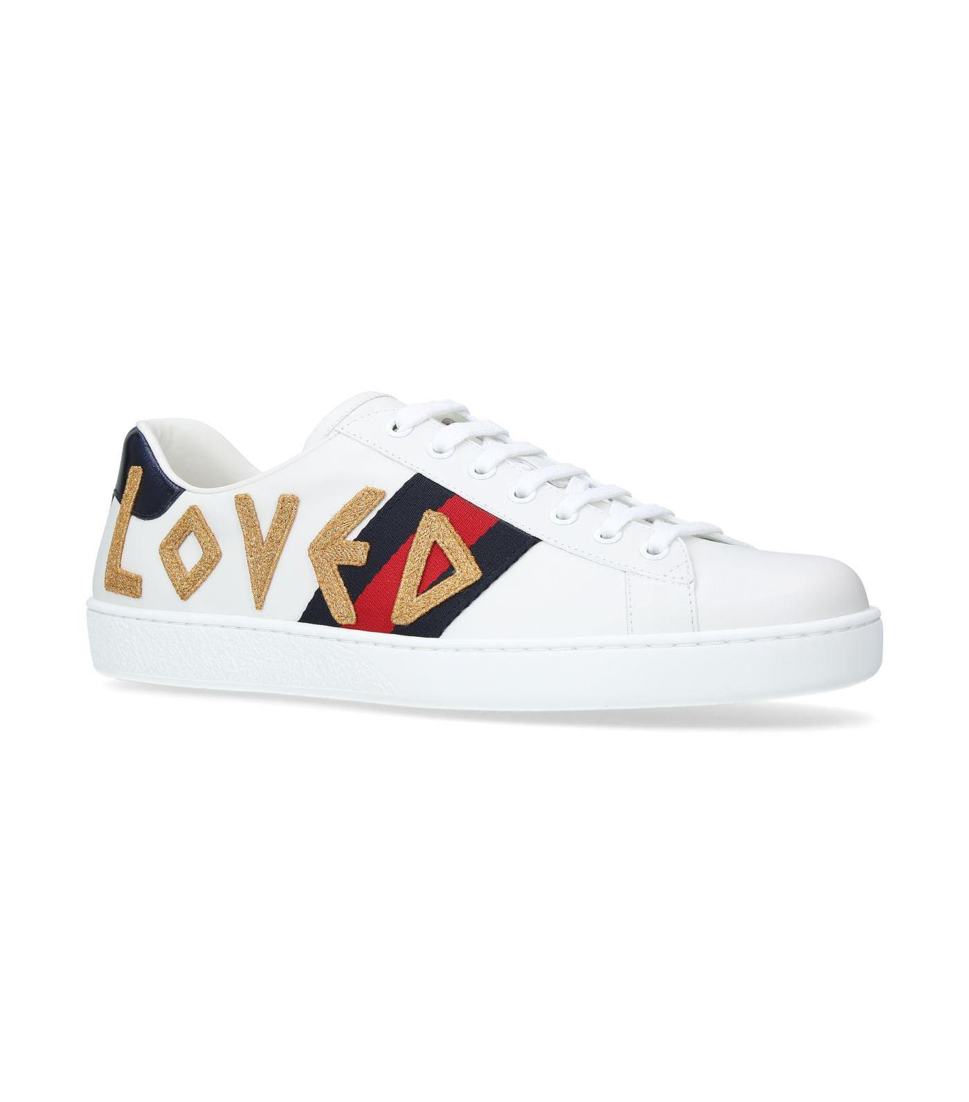 69c31500d0e04 Lyst - Gucci Ace Loved Sneakers in White for Men