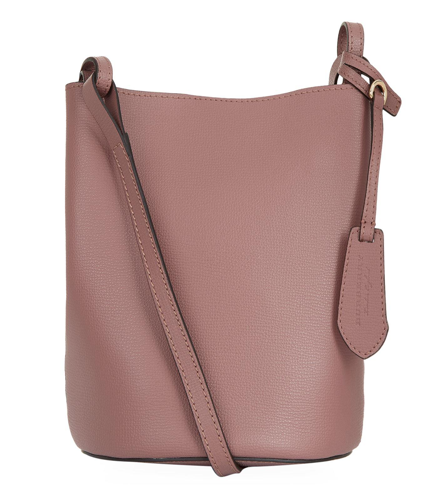 cde3ed49bb8f Burberry Small Lorne Leather Bucket Bag in Purple - Lyst