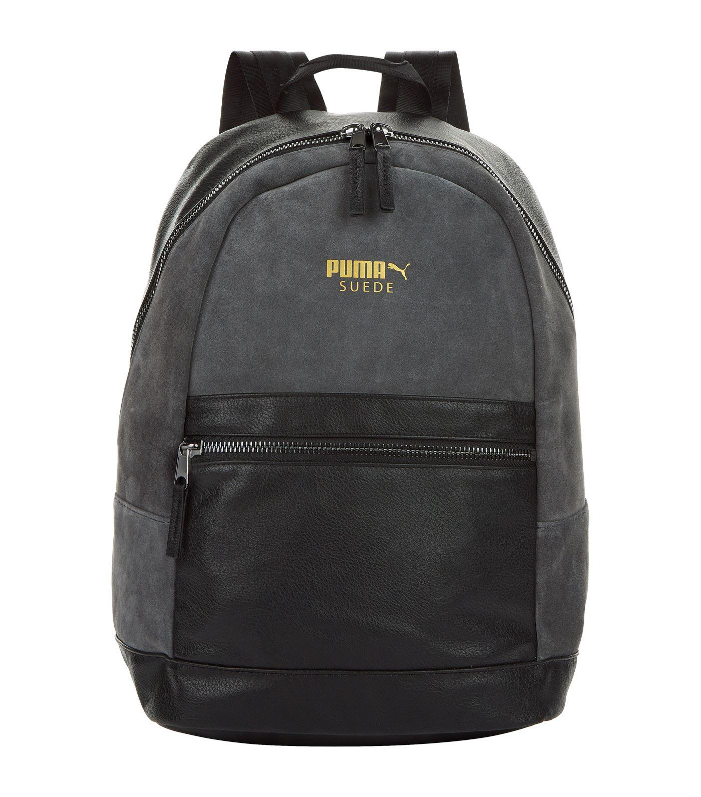 Details about Puma Prime Premium Archive Suede Womens Backpack Bag Black 075418 01 A4A