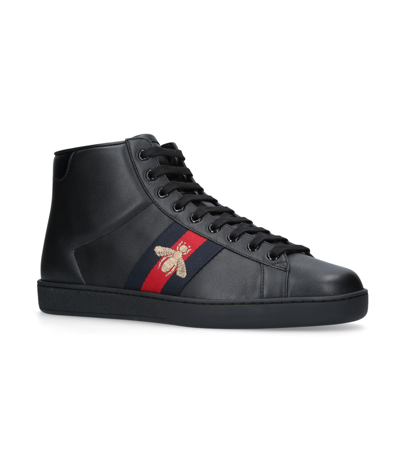 Ace Bee Embroidered High Top Sneakers