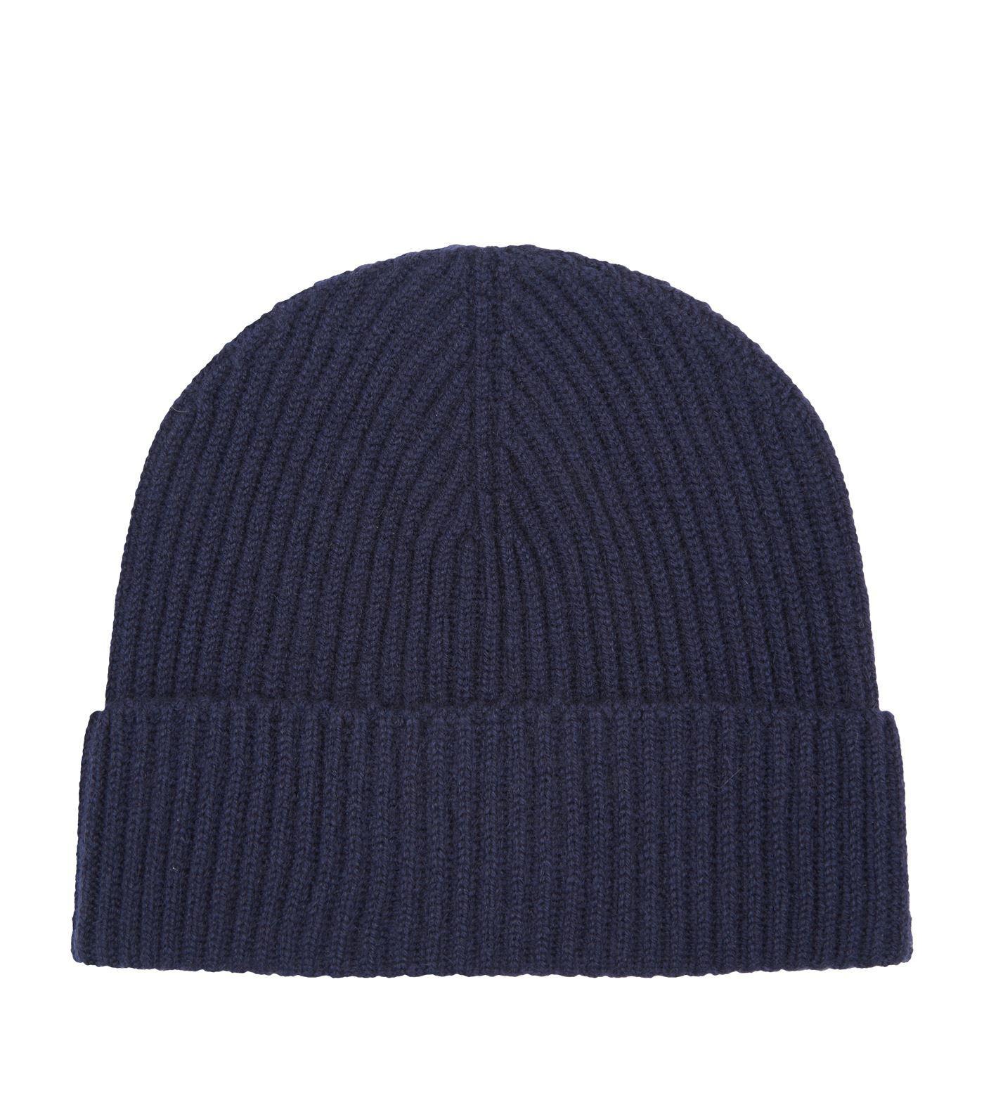 4274800449b Lyst - Harrods Cashmere Beanie Hat in Blue for Men