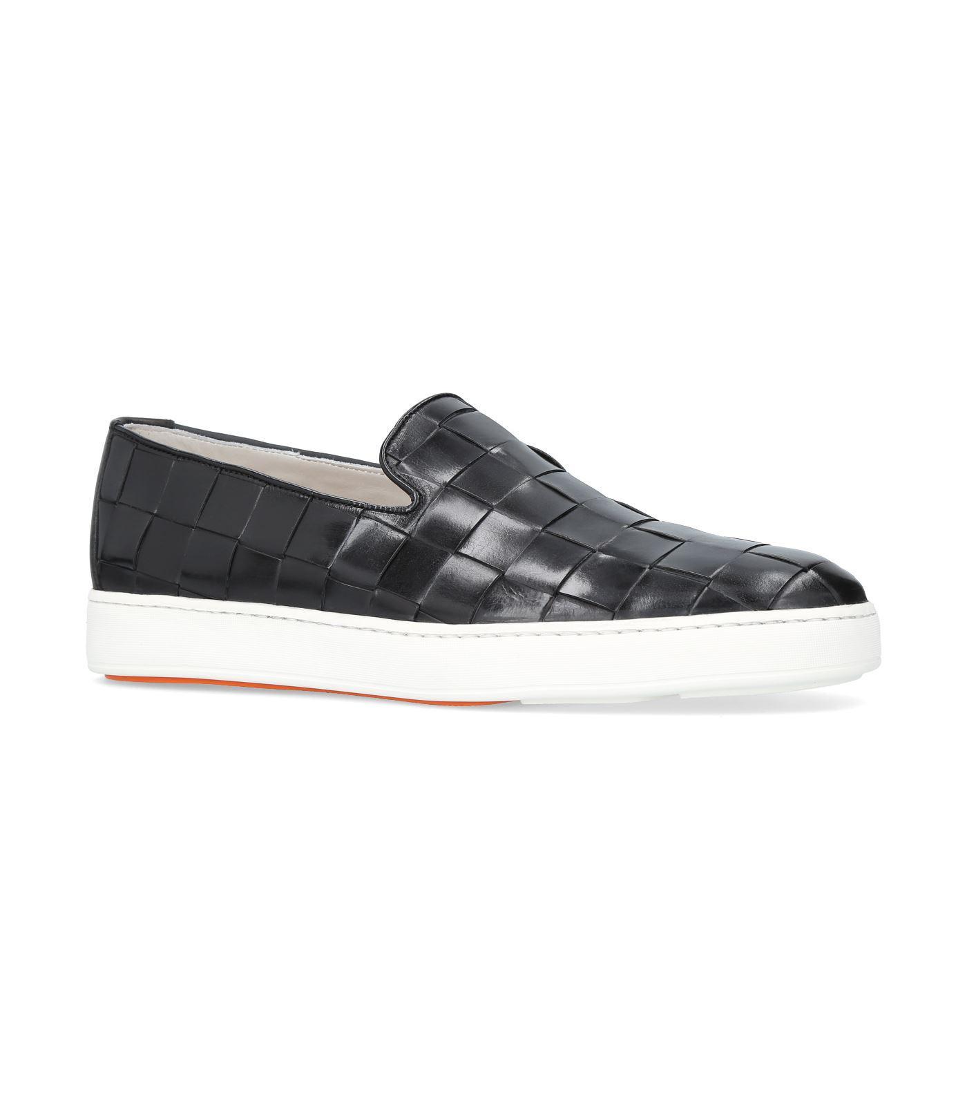 Santoni Leather Cleanic Slip-on