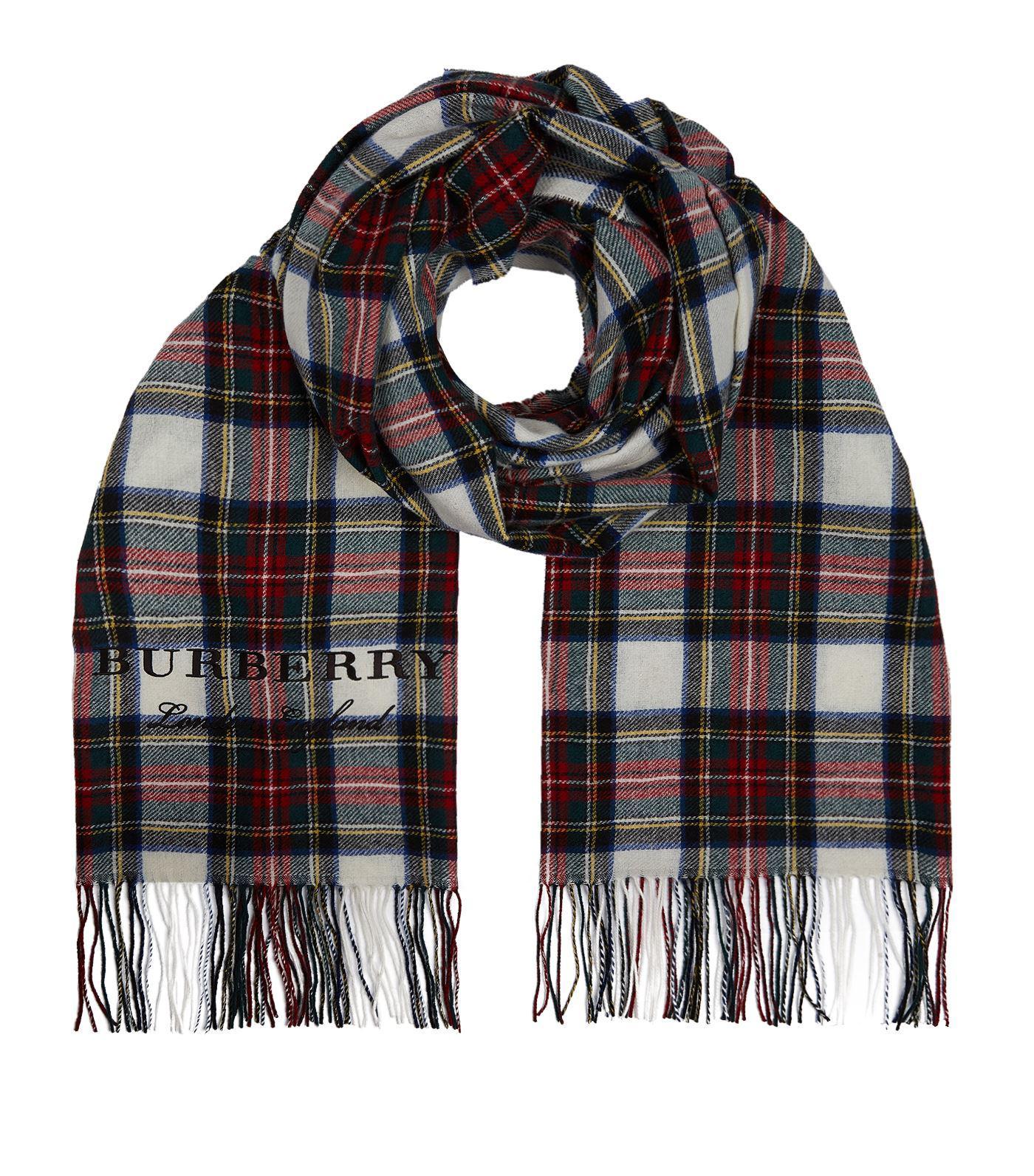 oversized tartan scarf - White Burberry YjqXY