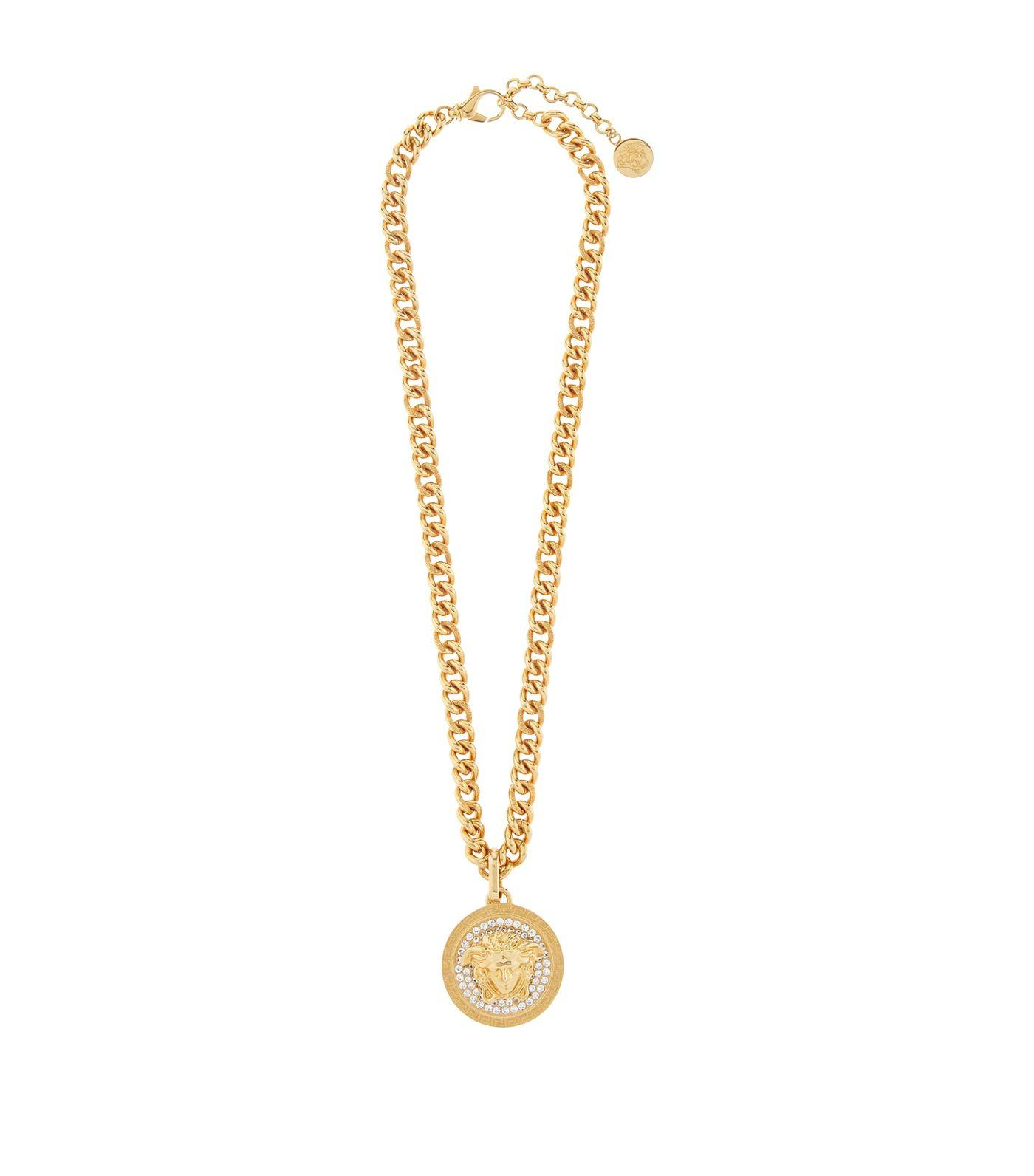 1f2184564509a Versace Metallic Medusa Crystal Chain Necklace for men