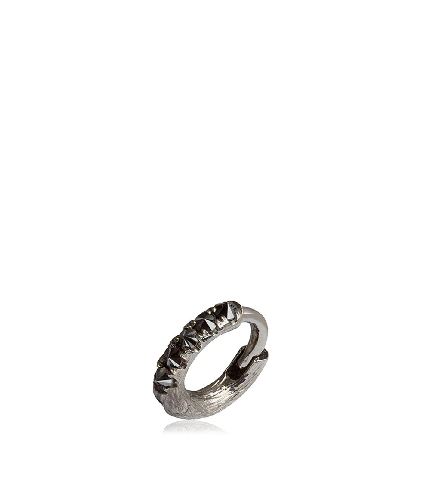 Annoushka Women S Metallic Dusty Diamonds Single White Gold Hoop Earring