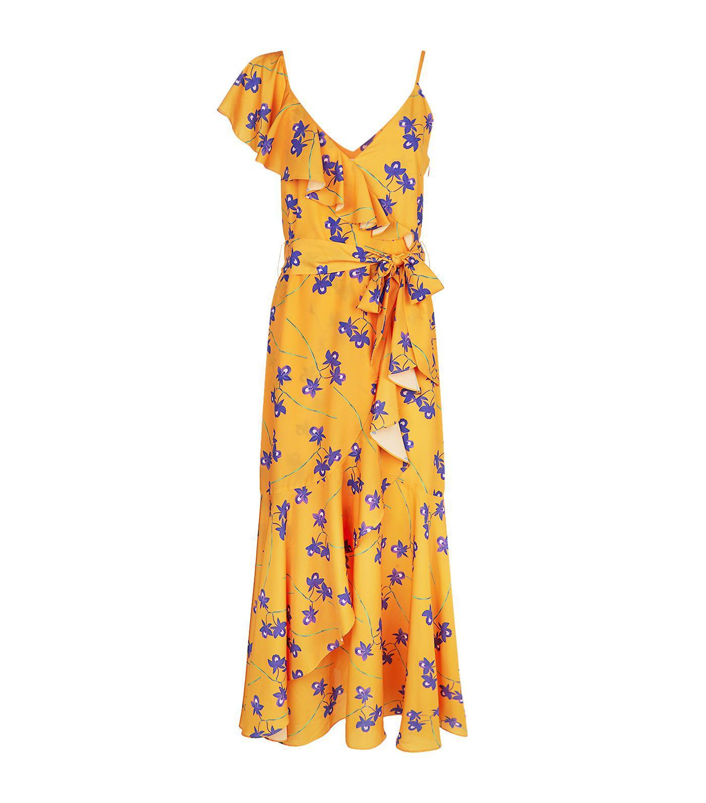 Beatrice Floral Print Maxi Dress - Yellow & Orange Borgo De Nor DflZuDj4