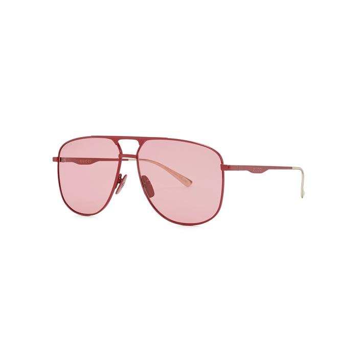8fee3334c9 Gucci. Women s Red Aviator-style Sunglasses. £225 From Harvey Nichols
