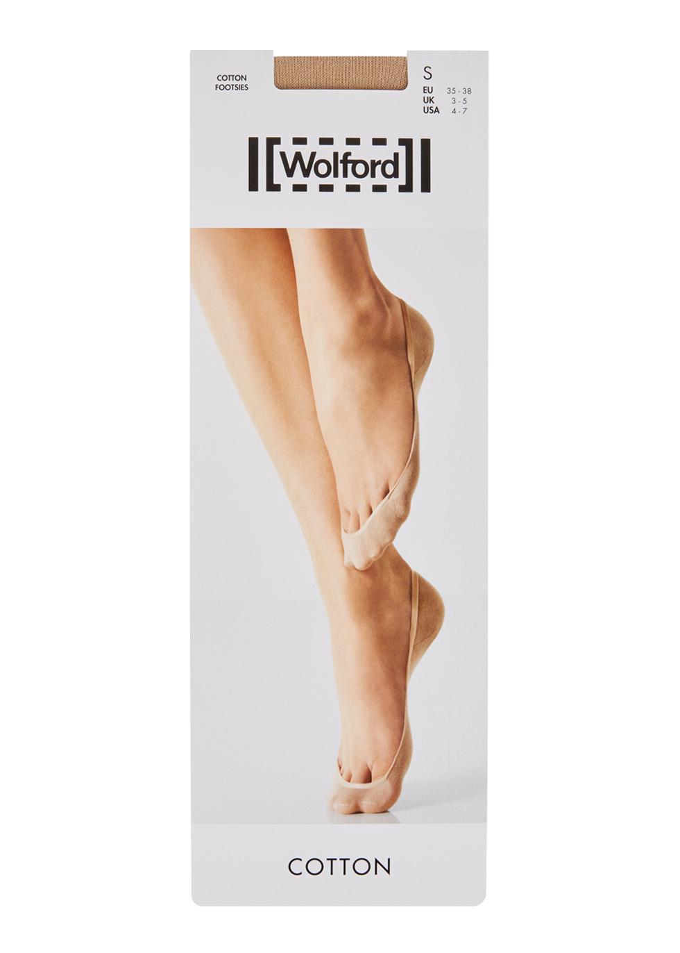 Black // Cotton SMALL U.K 3-5 Wolford Cotton Footsies // Socks