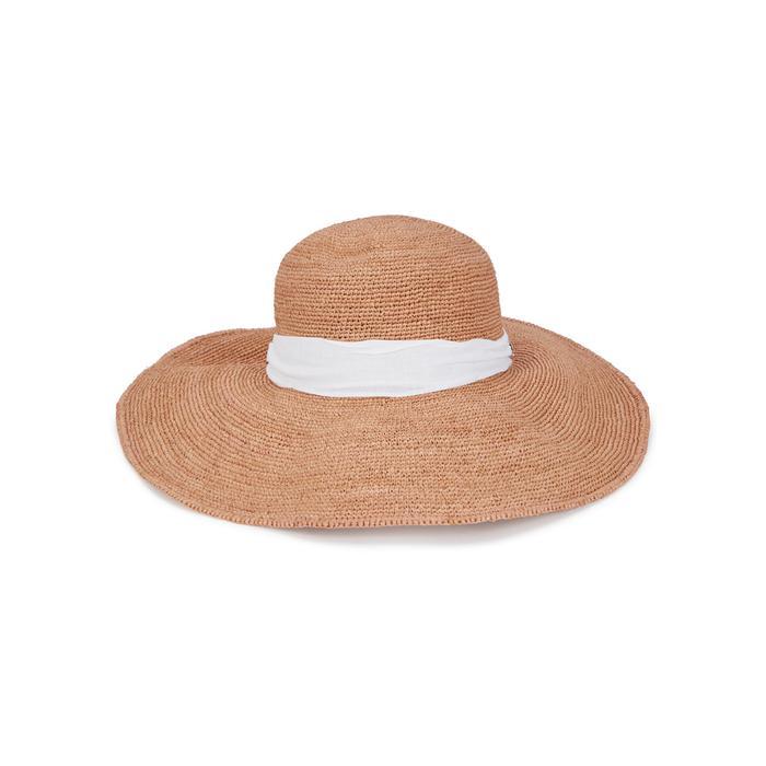 f80a3eaca Helen Kaminski Linen Kahlo Sand Raffia Wide-brim Hat in Natural - Lyst