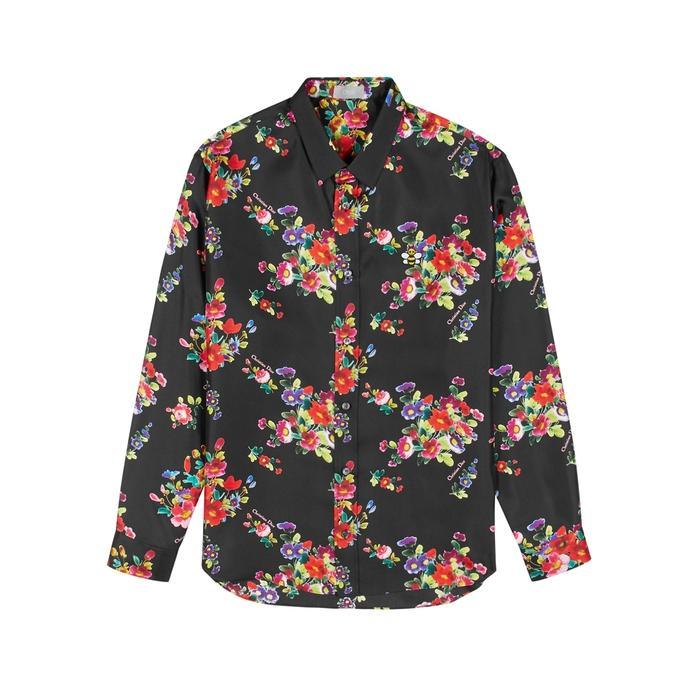 d0e41ef9af5191 Dior Homme. Men s Black Floral-print Silk Shirt. £780 From Harvey Nichols