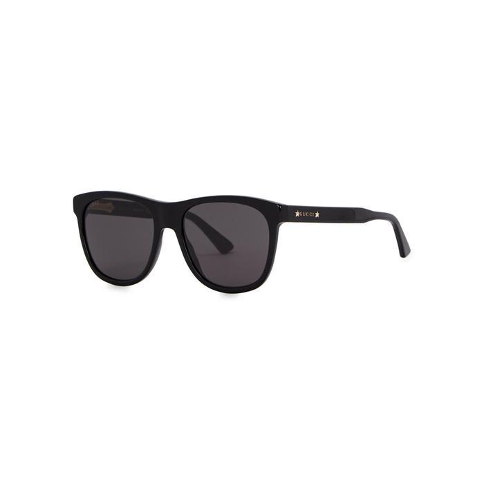 59f1279ea75 Gucci Black Acetate Wayfarer-style Sunglasses in Black for Men - Lyst