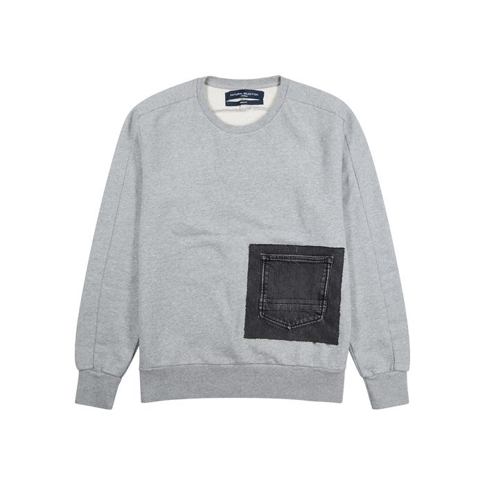 e4e0e832 Natural Selection Linear Cotton And Denim Sweatshirt in Gray for Men ...