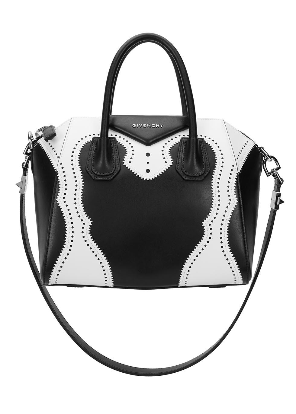 81977329109d Givenchy Black And White Calfskin Mini  antigona  Convertible Tote ...